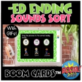 -ed ending sounds (d, t, id) boom cards *distance learning