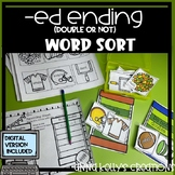 -ed ending to double or not word sort, fall, football