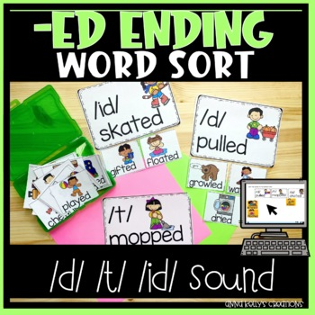 -ed ending word sort with pictures (d, t, id)