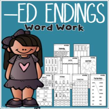-ed endings word work