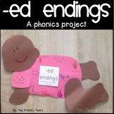 -ed endings word work craftivity - a phonics project