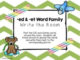 -ed & -et Word Family Write the Room