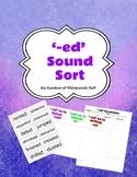 '-ed' sound sort