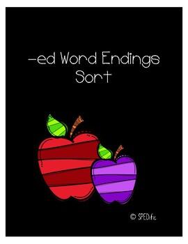 -ed word ending sort