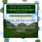 [editable] BLUE & GREEN NATURE / OUTDOOR CLASSROOM DECOR BUNDLE!