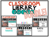[editable] Classroom Library Rules BUNDLE!