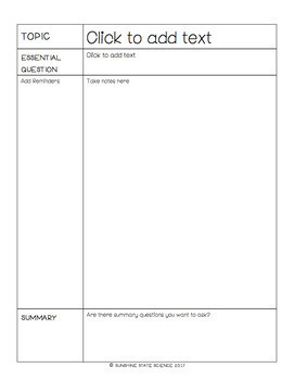 {editable} Cornell Notes Template