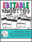 {editable} Monthly Classroom Newsletters