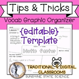 {editable} Vocabulary Graphic Organizer - ANY SUBJECT