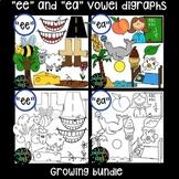 -ee/ea AND ai/y digraphs clip art bundle