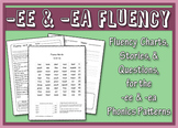 -ee & -ea Word Family Fluency Charts, Stories & Comprehension Worksheets