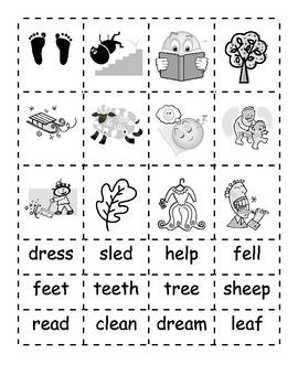 -ee -ea -e Word Families