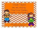 -ee/-ea/-ey Vowel Team Pack Practice Pack