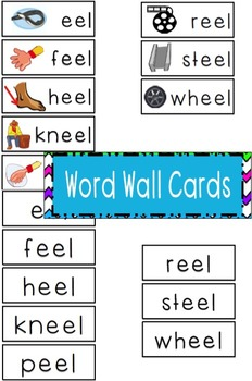 -eel Word Family Flipbook, Word Wall Cards and Data Tracking Sheets!
