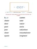 -eer Word List