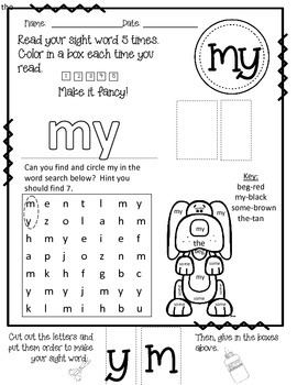 -eg WORD FAMILY PHONICS AND SIGHT WORD WORK EARLY LITERACY DECODING