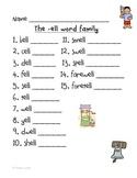 -ell Word Family Handwriting