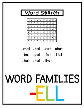 -ell Word Family Pack NO PREP!