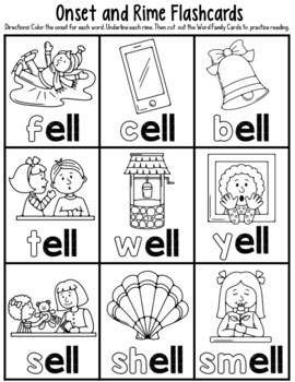 -ell Word Family Worksheets