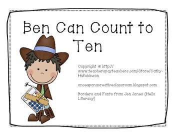 -en Word Family Book - Ben Can Count to Ten AND Activities