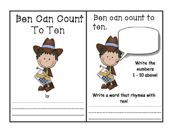 -en Word Family Book - Ben Can Count to Ten AND Activities
