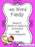 -en Word Family Packet, Read it, Build it, Write it Activi