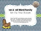 -en & -ell Word Family Write the Room