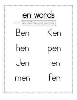 -en word family