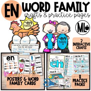 -en word family craftivity (CVC-Short e)