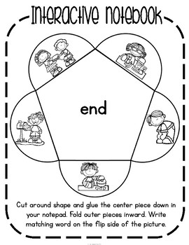 'end' Word Family CVCC Word Work