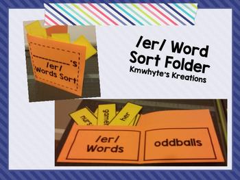 /er/ Word Folder Sort (er, ir, ur)