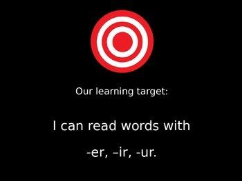 -er, -ir, -ur PowerPoint
