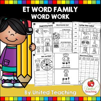 -et CVC Word Family Word Work