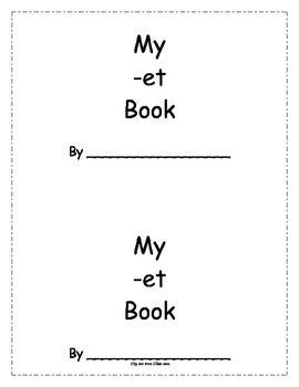 -et Word Family Book