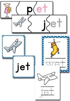 -et Word Family CVC Games/Centers and Worksheets US/UK Versions