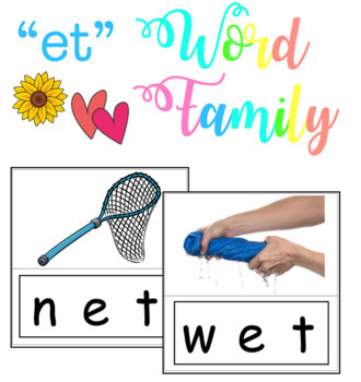 -et Word Family - Match & Velcro (Literacy Center Activity)