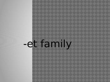 -et Word Family PowerPoint Presentation