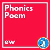 Bubble Gum Phonics Poem /ew/