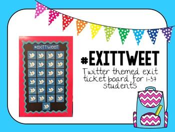 #exittweet: Exit Ticket Inspiration