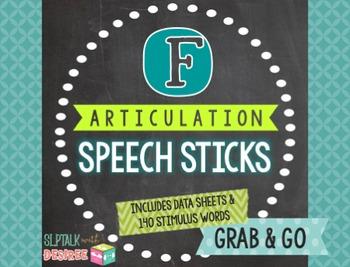 /f/ Articulation Speech Sticks