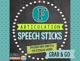 /f/ Articulation Speech Sticks