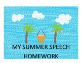 /f/ Articulation Summer Homework Calendar & Packet