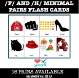 Articulation Minimal Pairs Flash Cards (F and H) in Color!