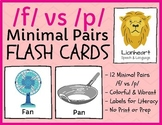 /f/ vs /p/ - minimal pairs - teletherapy & distance learning