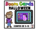 Boom Cards in Spanish- Conteo de 0-10- Halloween