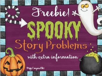 Spooky Story Problems FREEBIE