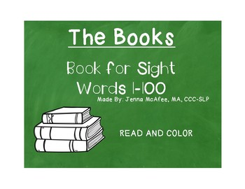 Sight Word Read and Color Books Set 4: (4 books included)