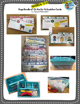 Articulation Growing bundle MATERIAL TO GO all sounds blends speech therapy