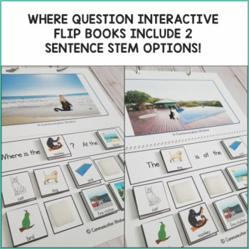 Where Questions Interactive Books and Activities Bundle