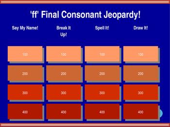 'ff' Final Double Consonant Jeopardy!